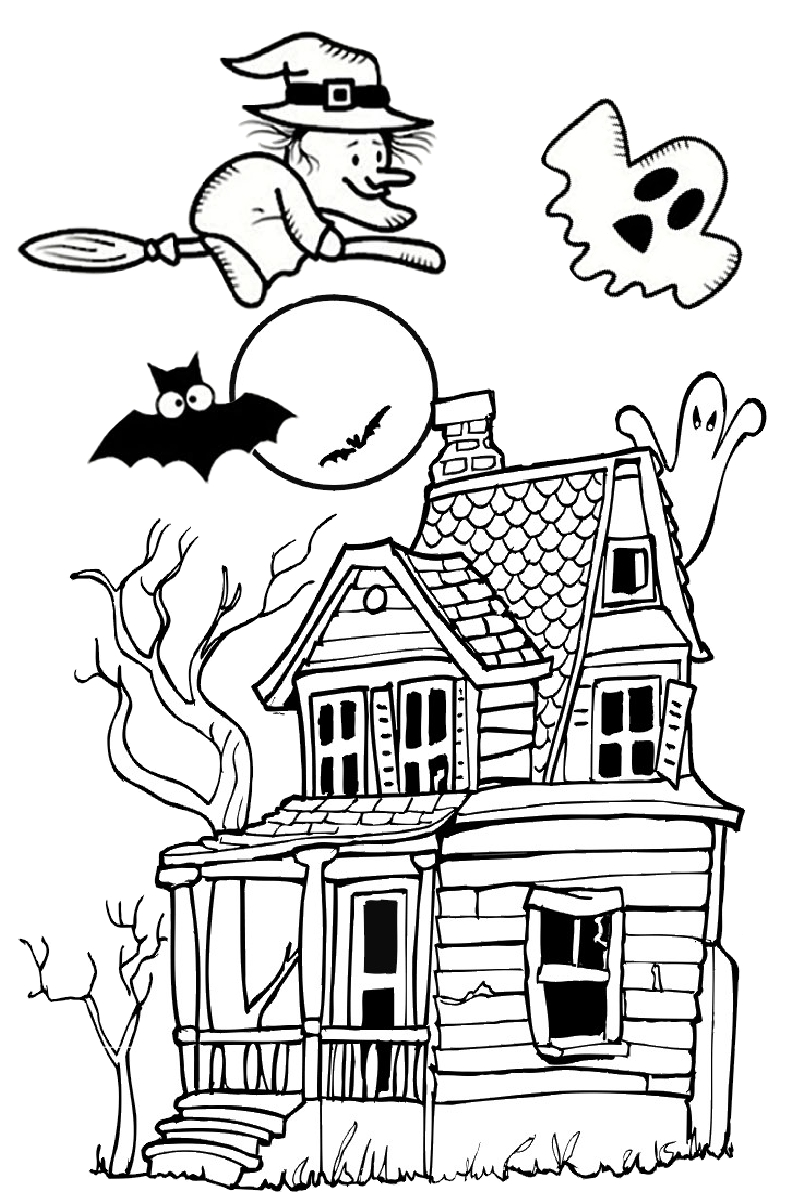 This is an image of Punchy Haunted House Printable