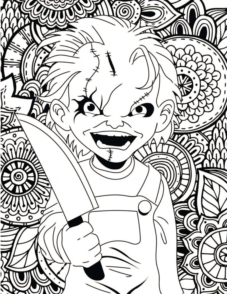Little House Horror Halloween Coloring Pages