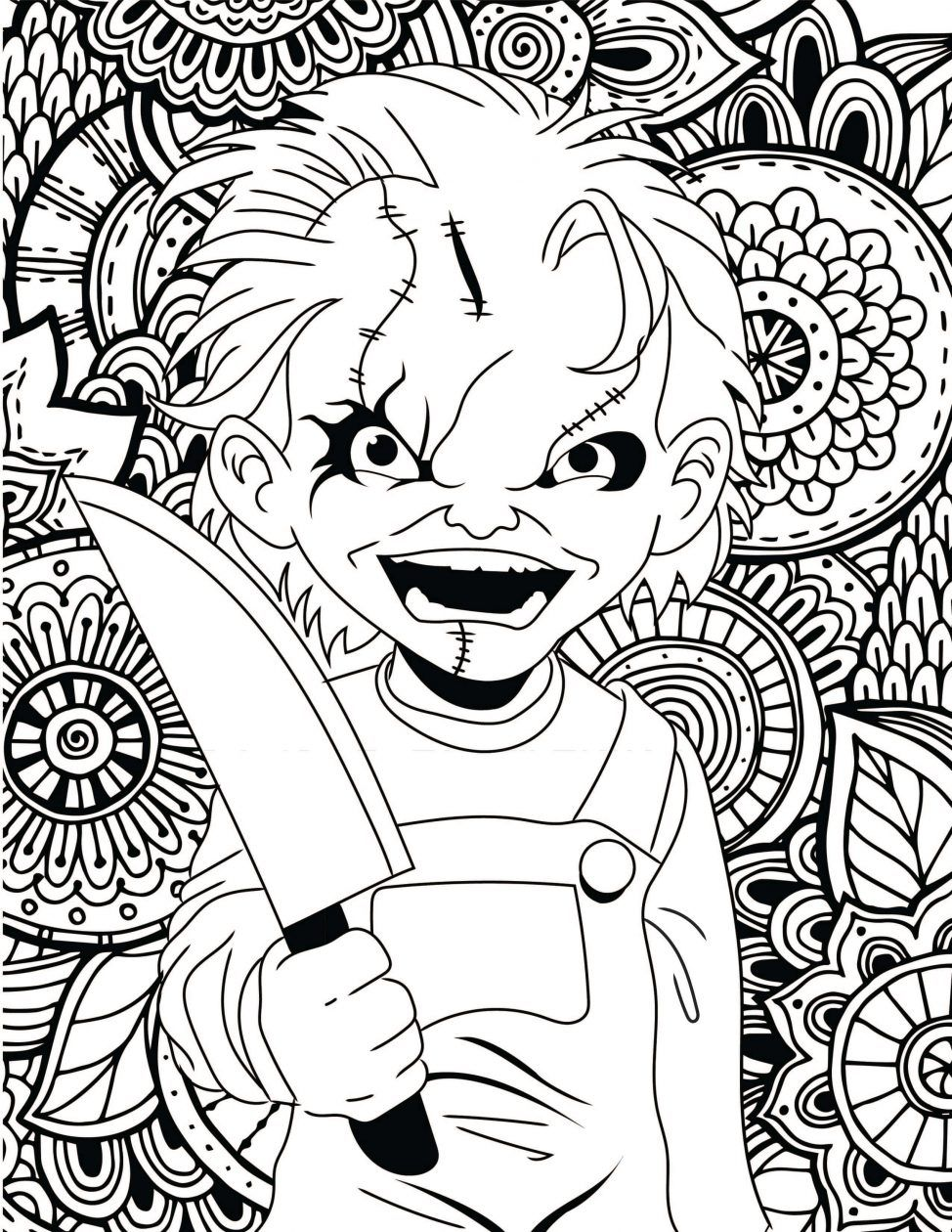 Little House Horror Halloween Coloring Pages - Print Color Craft