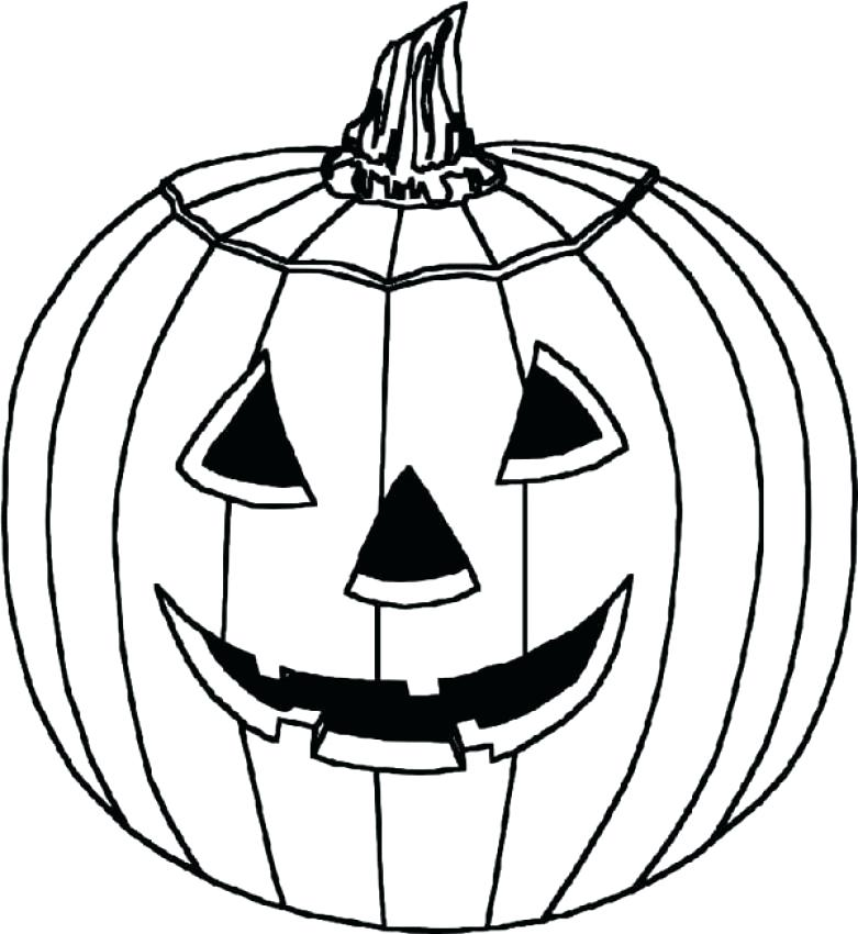 Simple easy to color Halloween Pumpkin for Kids