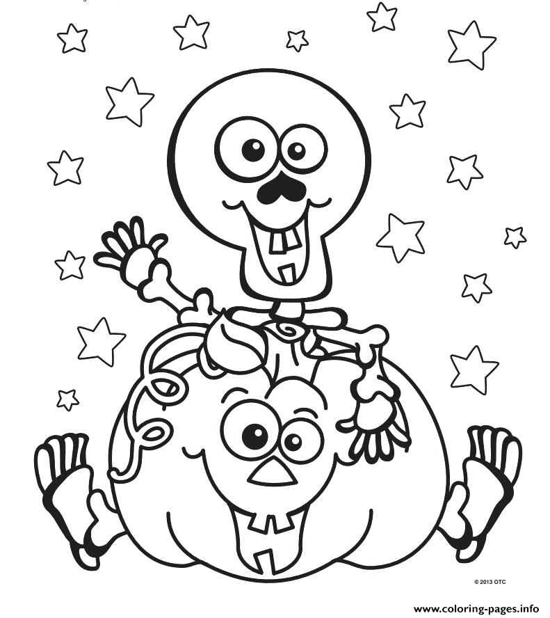 Skeleton tick or Treat Free Skeleton Halloween Coloring Page for kids