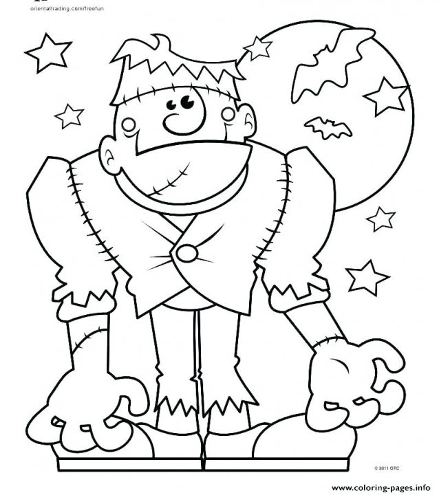 photo about Spooky Halloween Coloring Pages Printable identify Spooky Halloween Coloring Webpages Printable Spooky Coloring