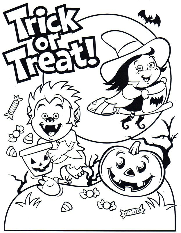 Trick Or Treat Monster Kids With Candies Printables Print