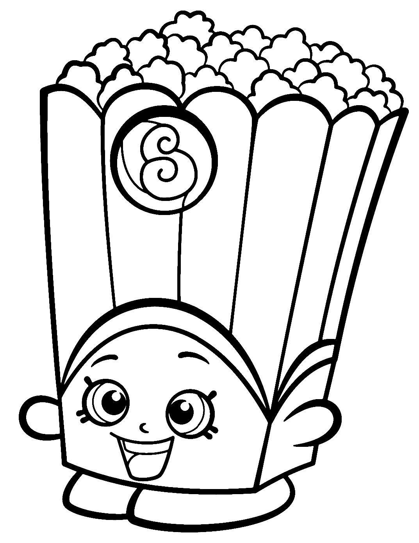 Season 2 Poppy Popcorn Shopkins Coloring Page
