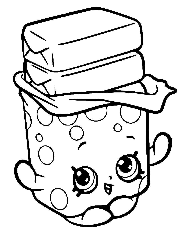 Shopkins Seasons Bobby Bubble Gum Coloring Page